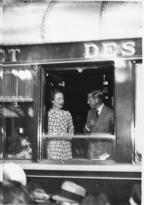 Duc de windsor sur le Train bleu