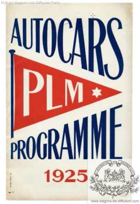 PLM Autocars Programme 1925
