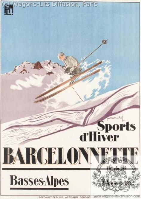 PLM barcelonette ski (ref N° 114)