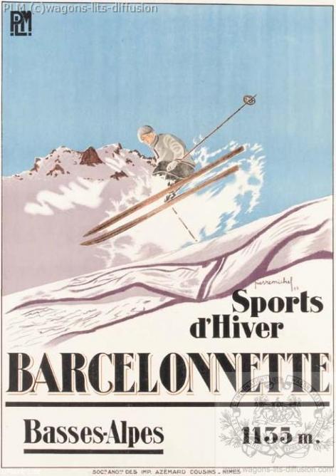 PLM barcelonette ski ( Ref N° 114