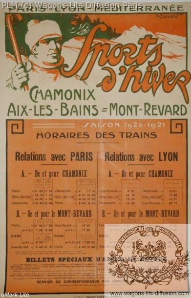 PLM Chamonix Aix Mont Revard Horaires 1920