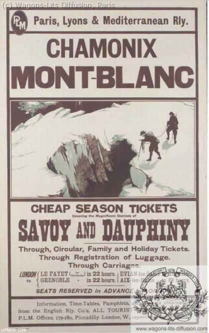 PLM Chamonix Mont Blanc Pub 1 (Ref N° 1031