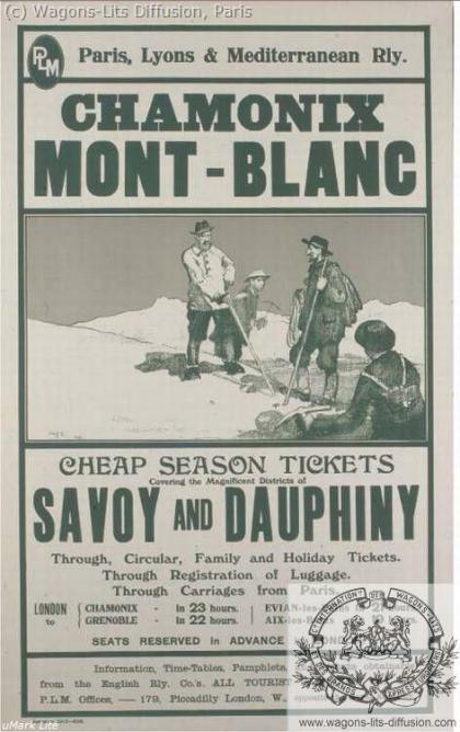 PLM Chamonix Mont Blanc Pub 2 (Ref N° 1032