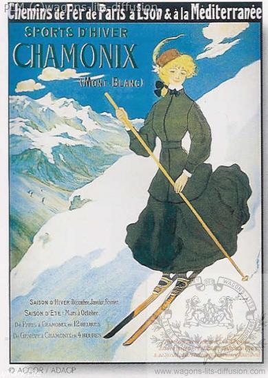 PLM Chamonix skieuse ( Ref N° 200