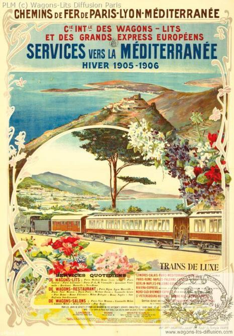 PLM CIWL Services de la Méditerranée 1905
