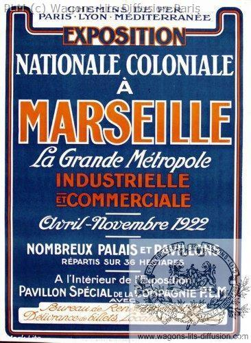 PLM Marseille Expo Coloniale 1922
