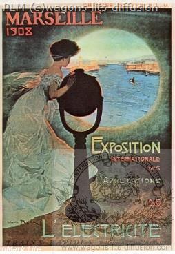 PLM Marseille Exposition 1908