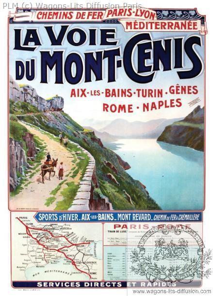 PLM Mont cenis  Aix Rome Naples