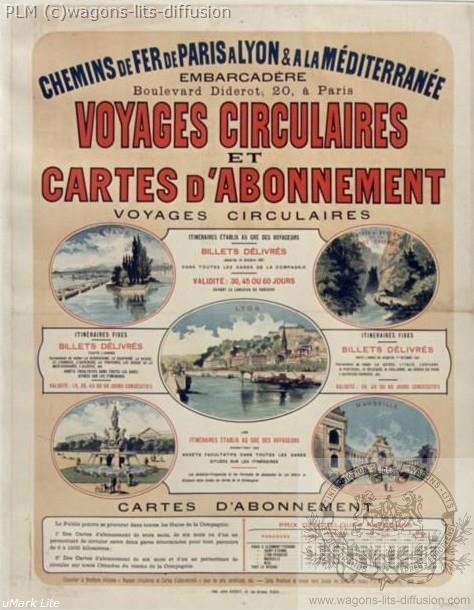 PLM Voyages circulaires (Ref N° 869
