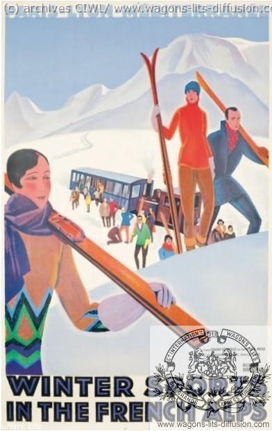 PLM. WINTER SPORTS IN FRENCH ALPS  (ref N° 222)