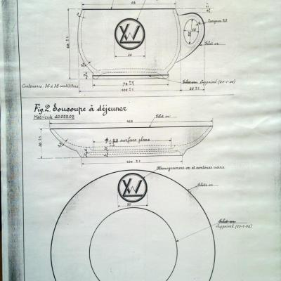 WL plans of tableware, furnitures or objects