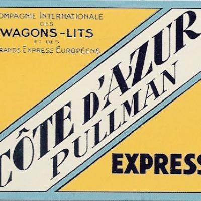 Etiquette bagage cote azur express