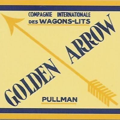 Etiquette bagage golden arrow
