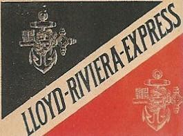 Etiquette bagage lloyd riviera express