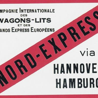 Etiquette bagage nord express