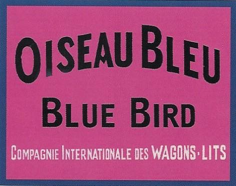 Etiquette bagage oiseau bleu