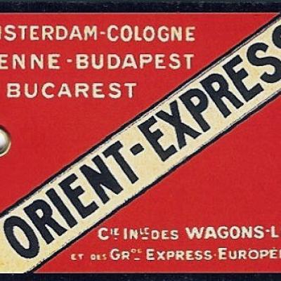 Etiquette bagage orient express