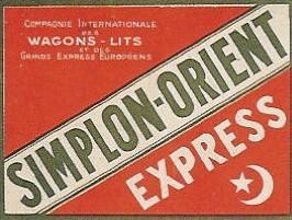 Etiquette bagage simplon orient express