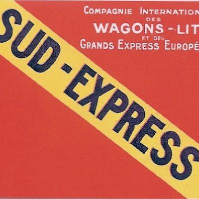 Etiquette bagage sud express