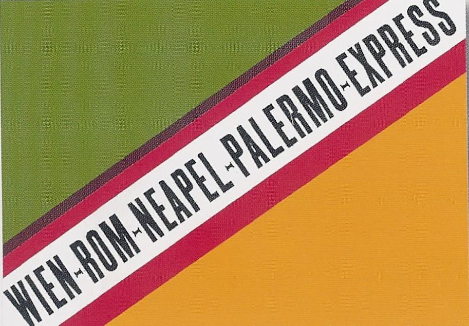 Etiquette bagage vienne rome palerme express