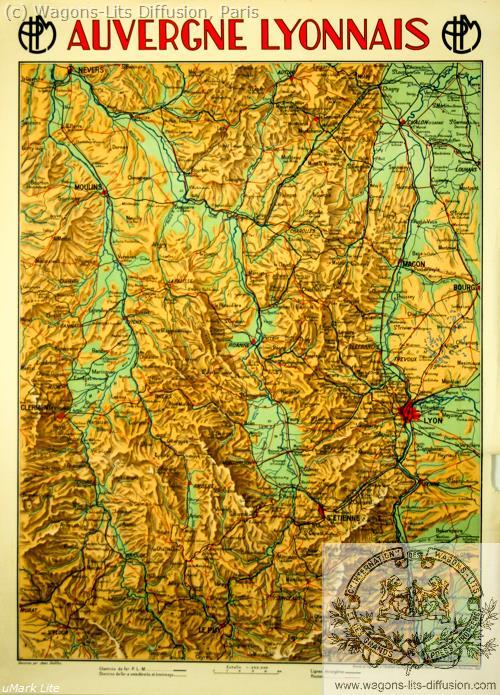 PLM Auvergne Lyonnais Carte Ref 1105