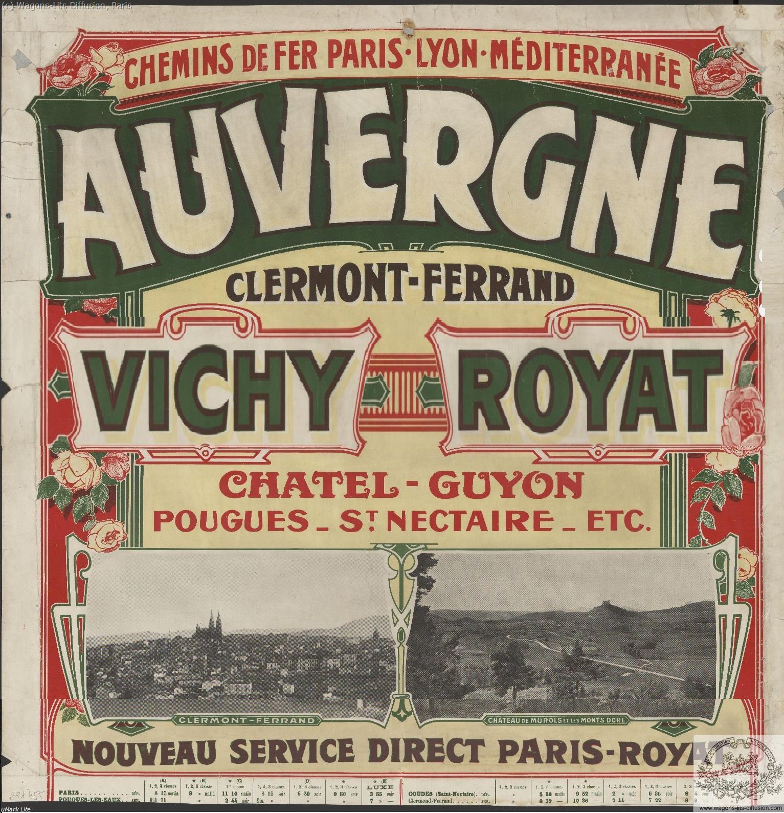 PLM Auvergne Vichy Royat  Ref 1040