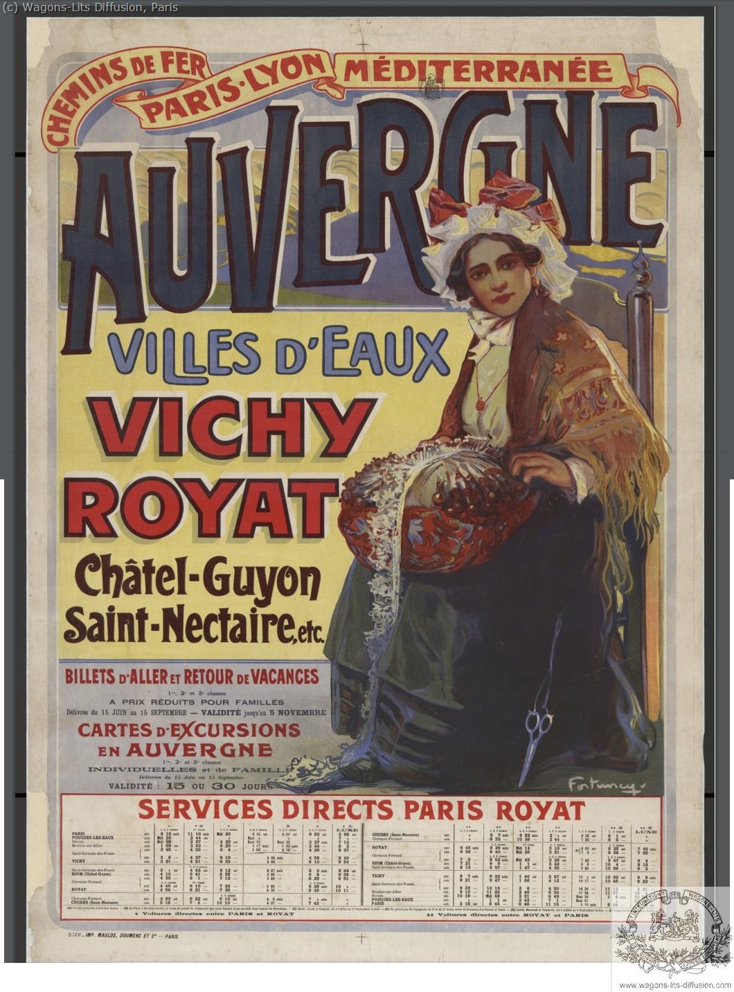 PLM AUVERGNE VICHY ROYAT Ref 1055