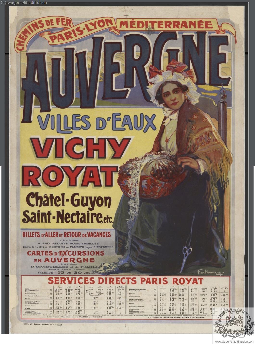 PLM AUVERGNE VICHY ROYAT  (Ref N° 1055