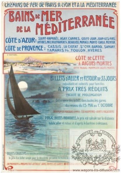 PLM Bains de mer Méditerranée Ref 996