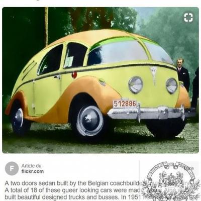 Plm belgian automobile project 1950