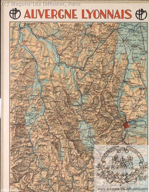 PLM carte 2 Auvergne Lyonnais ref 1105