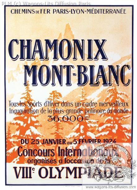 PLM Chamonix Mont Blanc 1924