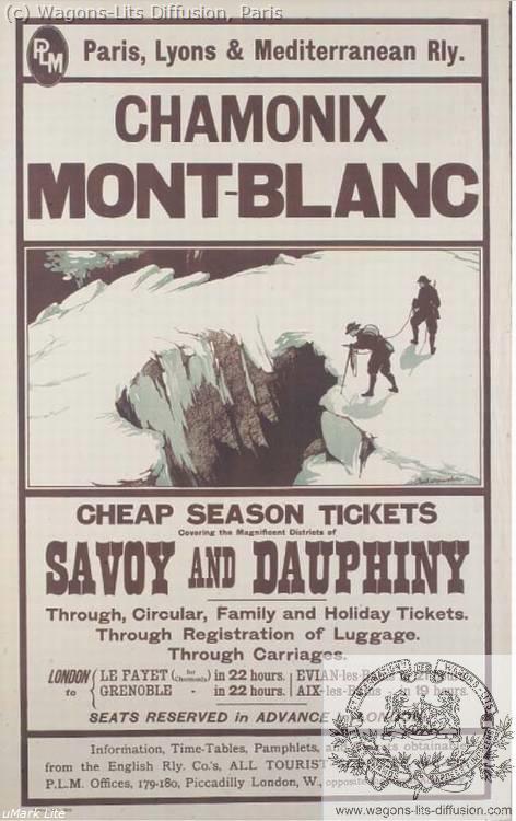 PLM Chamonix Mont Blanc Pub  Ref 1031