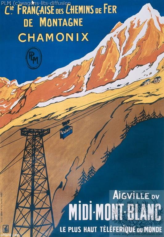 PLM Chamonix Mont Blanc téléphérique ( Ref N° 190