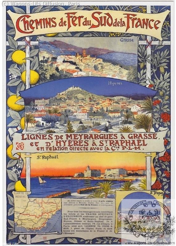 PLM chemin de fer sud Saint Tropez Ref 977