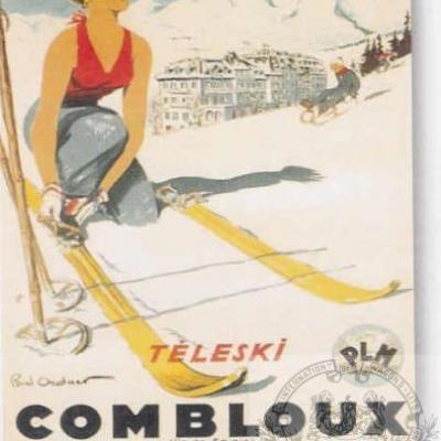 PLM Combloux skieuse
