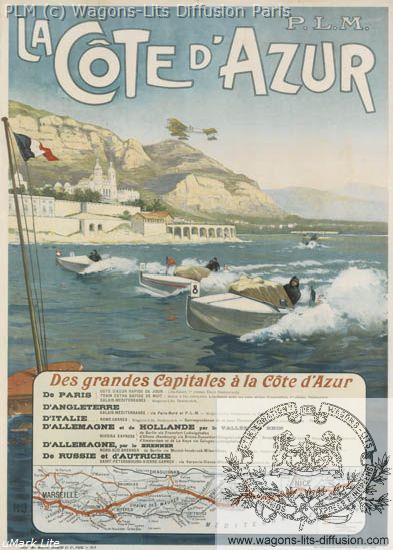 PLM Cote Azur course bateaux (Ref N° 253