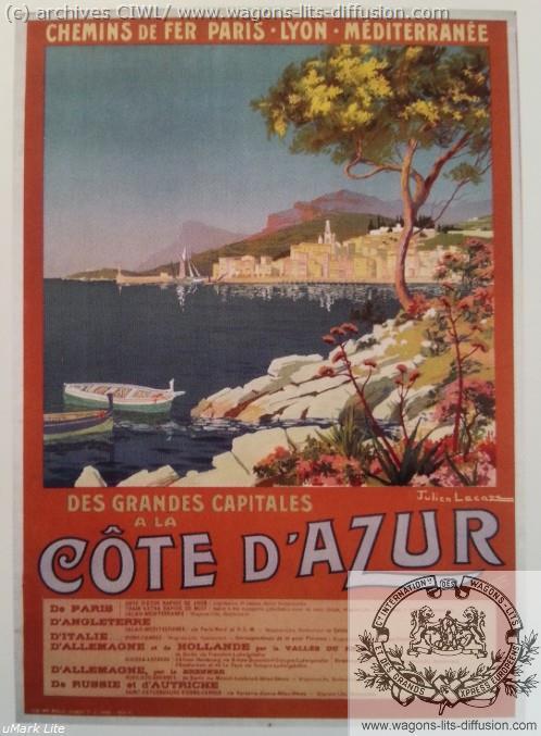 PLM Cote d'Azur depuis les grandes capitales (Ref N° 272