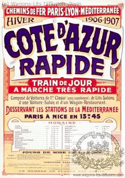 PLM Côte d'Azur rapide Ref 1081
