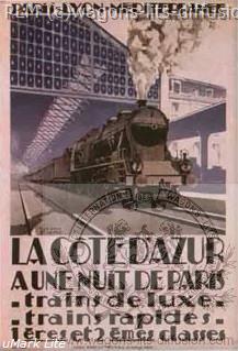 PLM COTE D'AZUR TRAIN BLEU  (Ref N° 288