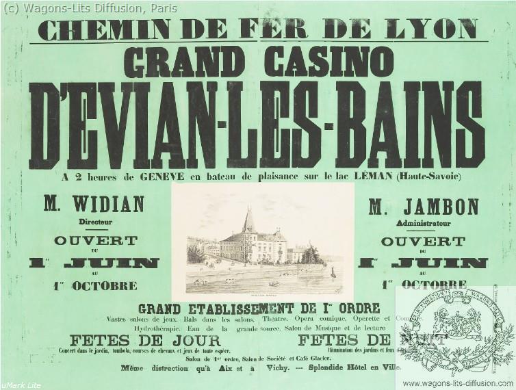 PLM Evian Grand Casino Ref 1062