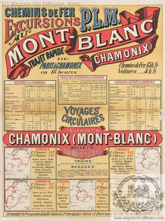 PLM Excursions au Mont-Blanc Chamonix Ref 1068