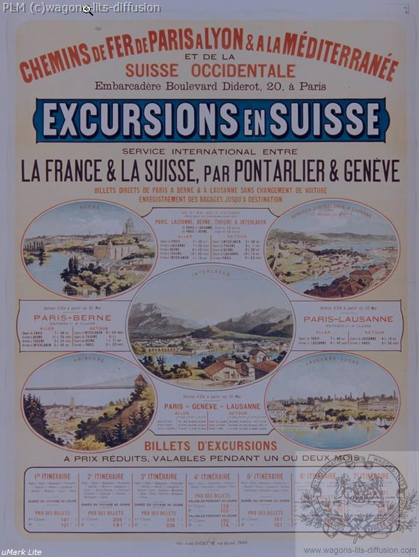 PLM Excursions en Suisse (Ref N° 335
