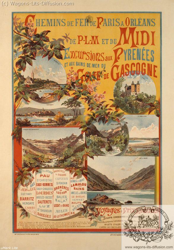 PLM Excusion Midi Pyrénées Gascogne  (ref N° 336)