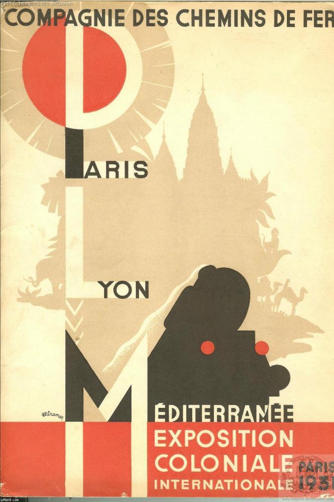PLM Exposition Coloniale Paris 1931