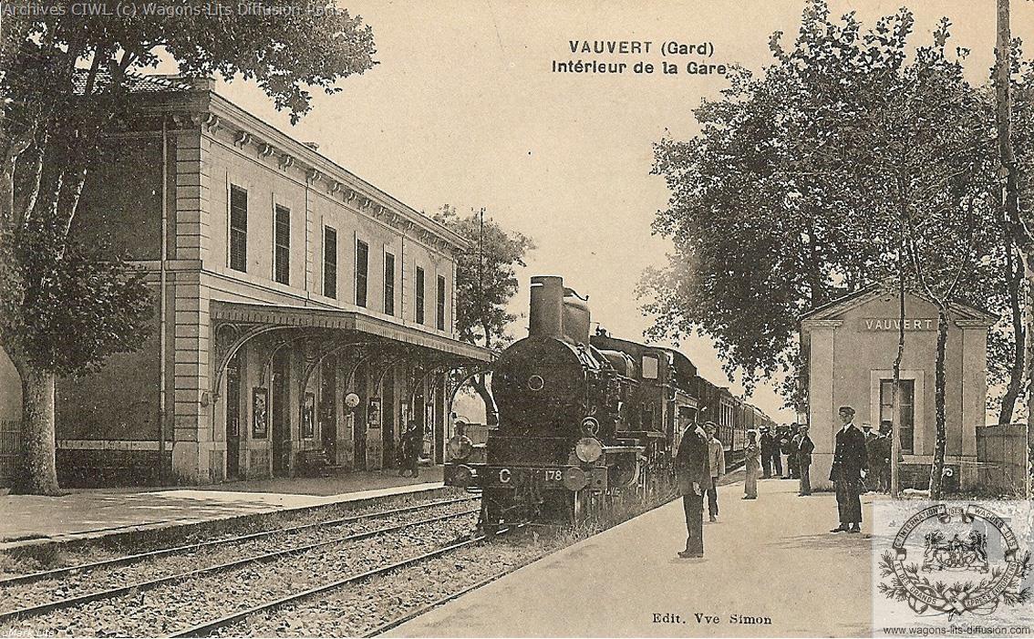 Plm gare de vauvert gard en 1870