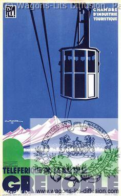 PLM Grenoble Téléférique de la Bastille Ref 1112