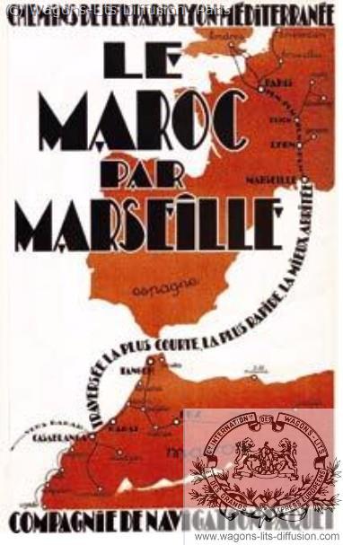 PLM Maroc par Marseille (2) (Ref N° 979