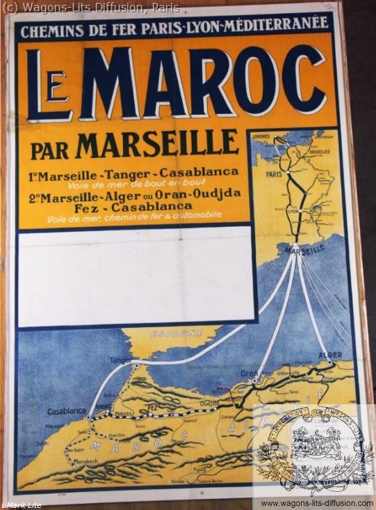 PLM Maroc par Marseille Ref 1022