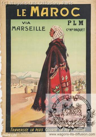 PLM Maroc Via Marseille Paquet (Ref N° 1030